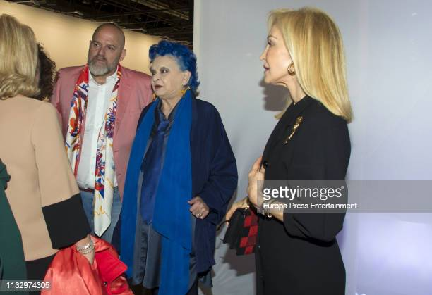 Lucia Bose and Carmen Lomana attend ARCO Art Fair at Ifema on February 28 2019 in Madrid Spain
