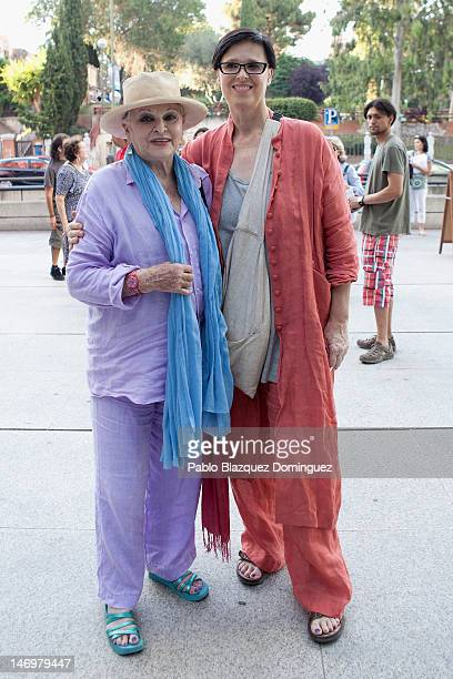 Lucia Bose and daughter Lucia Dominguin attend Mariza Fado's concert at Canal Theatre on June 24, 2012 in Madrid, Spain.