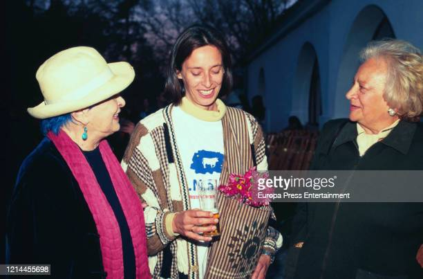 Lucia Bose and Paola Dominguin during Pepe Dominguin's tribute on April 07, 2003 in Madrid, Spain.