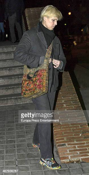Lucia Bose Dominguin attends the funeral for Simone Bose on January 15 2014 in Madrid Spain
