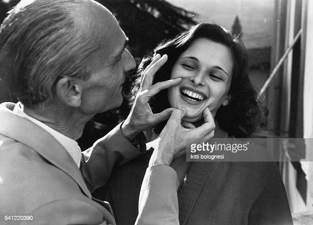 Lucia Bose has her smile examined by the dentist Lucio as part of the Miss Italy competition