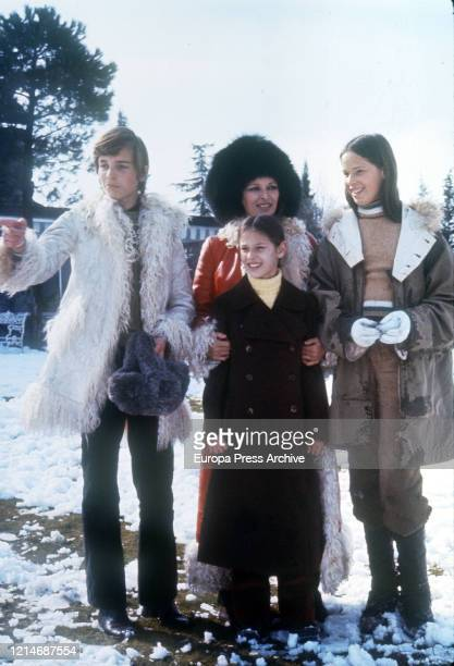 Lucia Bose is seen posing during a portrait session on January 1972 in Segovia Spain