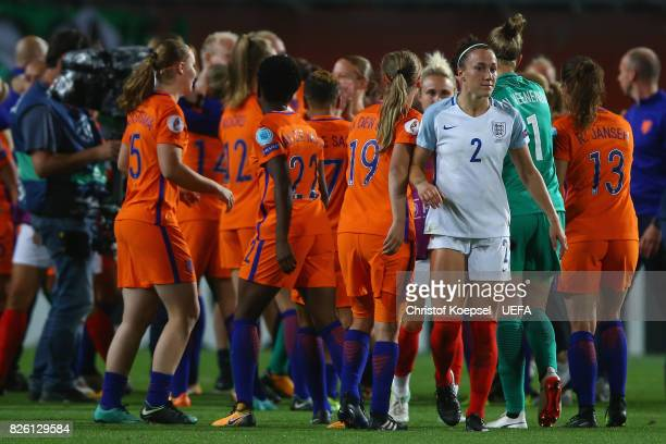 Lucia Bronze of England looks dejected after losing 03 the UEFA Women's Euro 2017 Second Semi Final match between Netherlands and England at De...