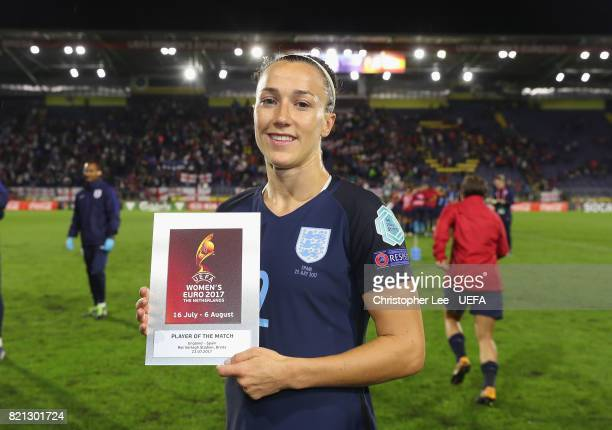 Lucia Bronze of England with her Player of the Match award during the UEFA Women's Euro 2017 Group D match between England and Spain at Rat Verlegh...