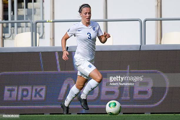 Lucia Bronze of England Women in action during the FIFA Women's World Cup 2015 Qualifier match between Ukraine Women and England Women at Arena Lviv...