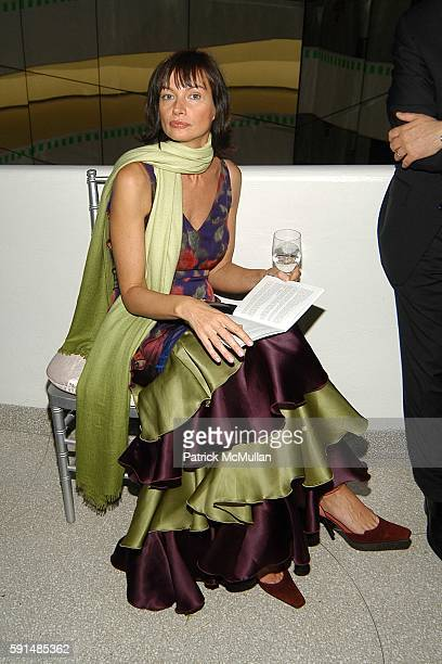 Lucia Debrilli attends Cocktail Party and Dinner to Celebrate the Renowned Italian Drug Rehabilitation Center ' San Patrignano' at Solomon R....