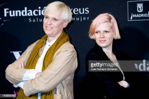 """Lucia Dominguin and Bimba Bose attend """"Ser Mujer. Hoy"""" exhibition at Conde Duque Center on March 8, 2012 in Madrid, Spain."""