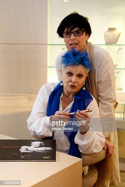 Lucia Dominguin and Lucia Bose present the new Montblanc limited edition fountain pen 'Pablo Picasso' at the Montblanc store on June 19, 2012 in...