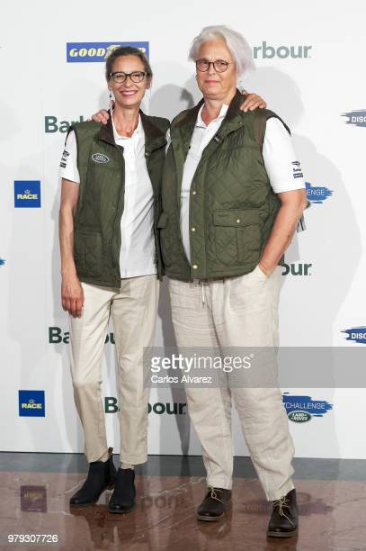 Lucia Dominguin and Paola Dominguin present 'Land Rover Discovery Challenge' 2018 at the Barajas Airport on June 20 2018 in Madrid Spain