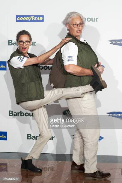 Lucia Dominguin and Paola Dominguin present 'Land Rover Discovery Challenge' 2018 at the Barajas Airport on June 20, 2018 in Madrid, Spain.