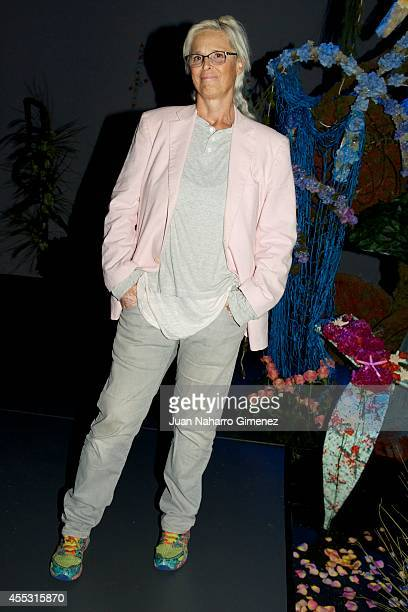 Lucia Dominguin attends Mercedes Benz Fashion Week Madrid at Ifema on September 12, 2014 in Madrid, Spain.
