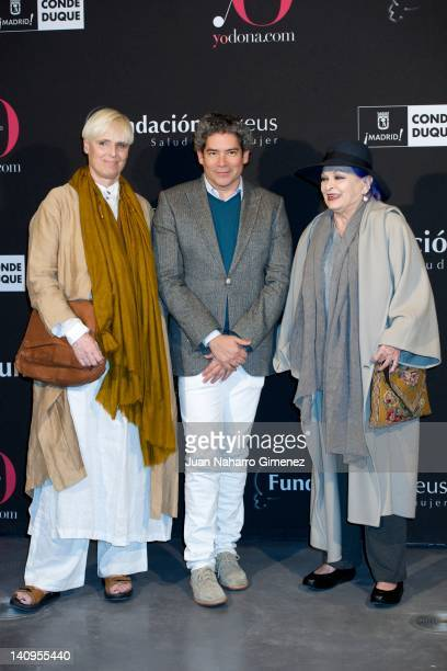 """Lucia Dominguin, Boris Izaguirre and Lucia Bose attend """"Ser Mujer. Hoy"""" exhibition at Conde Duque Centeron March 8, 2012 in Madrid, Spain."""