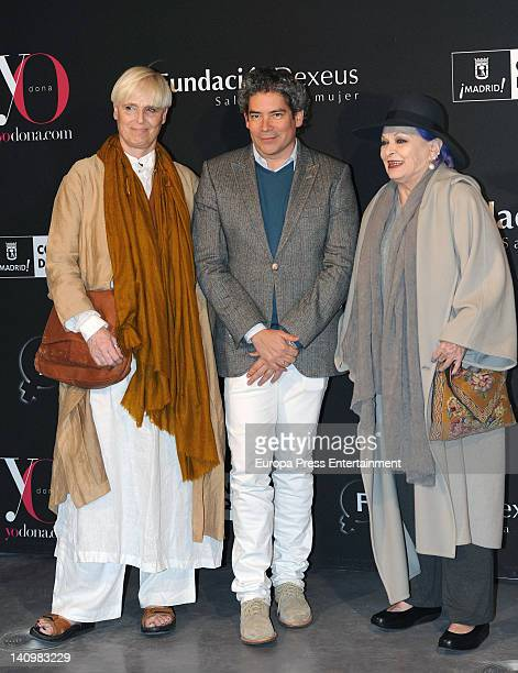 """Lucia Dominguin, Boris Izaguirre and Lucia Bose attend """"Ser Mujer. Hoy"""" exhibition on March 8, 2012 in Madrid, Spain."""