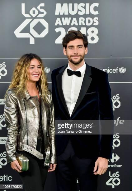 Lucia Ellar and Alvaro Soler attend 'LOS40 Music Awards' 2018 at WiZink Center on November 2 2018 in Madrid Spain