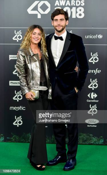 Lucia Ellar and Alvaro Soler attend 'LOS40 Music Awards' 2018 at WiZink Center on November 2 2018 in Madrid Spain