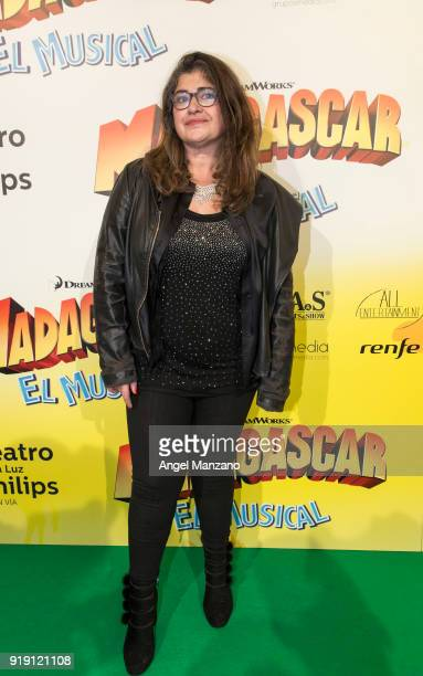 Lucia Etxebarria attends 'Madagascar The Musical' Premiere in Madrid on February 16 2018 in Madrid Spain