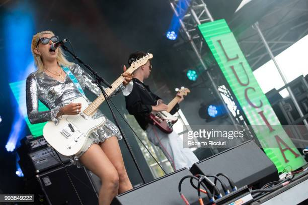 Lucia Fontaine aka LUCIA performs on stage during TRNSMT Festival Day 5 at Glasgow Green on July 8 2018 in Glasgow Scotland