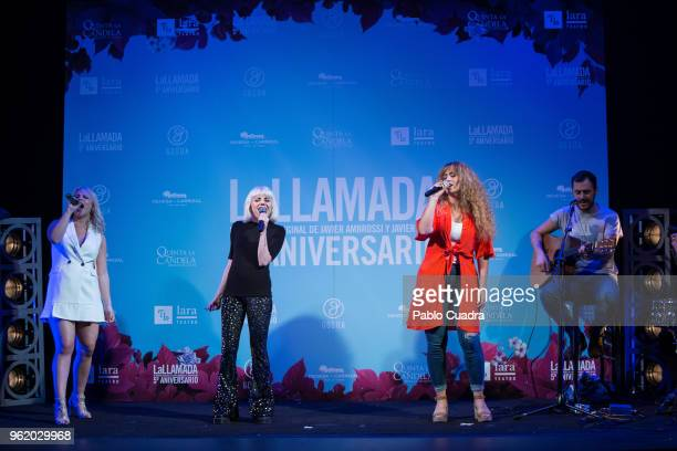 Lucia Gil Angy Fernandez and Erika Bleda attend the 'la Llamada' photocall at Lara Theater on May 24 2018 in Madrid Spain