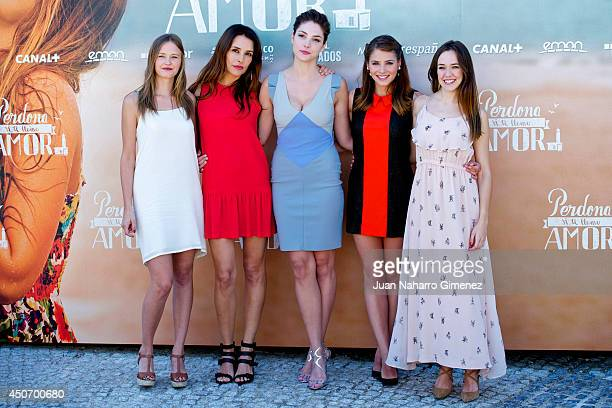 Lucia Guerrero Patricia Vico Paloma Bloyd Andrea Duro and Lucia Delgado attend 'Perdona Si Te Llamo Amor' photocall at Cafeteria Rio on June 16 2014...