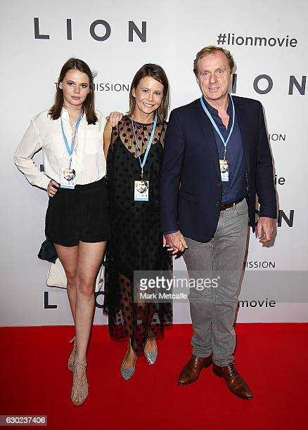 Lucia Hawley Antonia Kidman and Craig Marran arrive ahead of the Australian premiere of LION at State Theatre on December 19 2016 in Sydney Australia