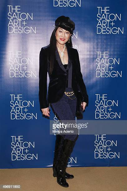 Lucia Hong Gordan attends The Salon Art Design Vernissage Party at the Park Avenue Armory on November 12 2015 in New York City