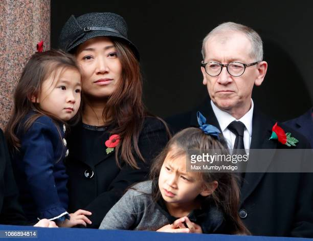 Lucia Hunt and Philip May attend the annual Remembrance Sunday Service at The Cenotaph on November 11 2018 in London England The armistice ending the...