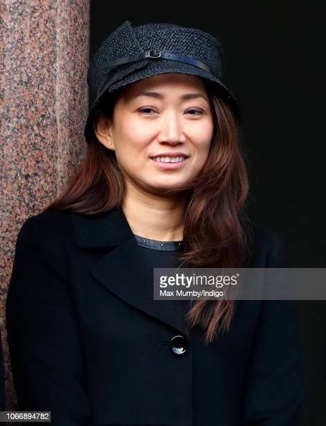 Lucia Hunt attends the annual Remembrance Sunday Service at The Cenotaph on November 11 2018 in London England The armistice ending the First World...