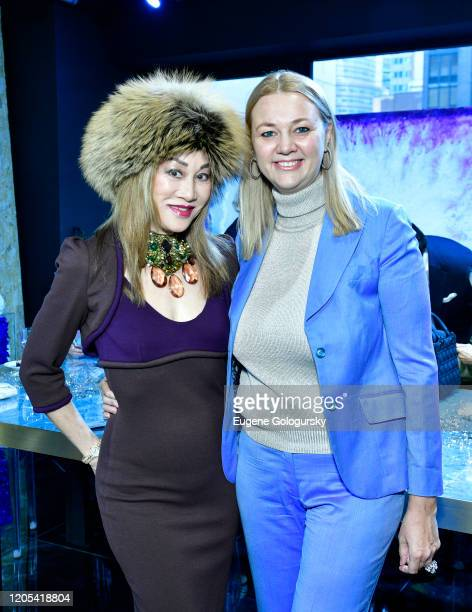 Lucia Hwong Gordon and Alisa Roever attend the Andrea Bocelli Foundation Lillian Gorbachincky Present First Annual Luncheon at AD Building on...