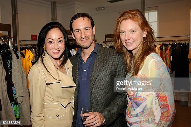 Lucia Hwong Gordon David Schlachet and Lara Schlachet attend Saks Fifth Avenue with Serena Boardman Rosen and Fernanda Niven toast Cristina Greeven...