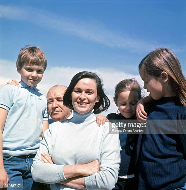Lucia is seen posing during a portrait session on April 26 1968 in Madrid Spain