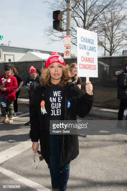 Lucia Kay McBath attends March For Our Lives on March 24 2018 in Washington DC