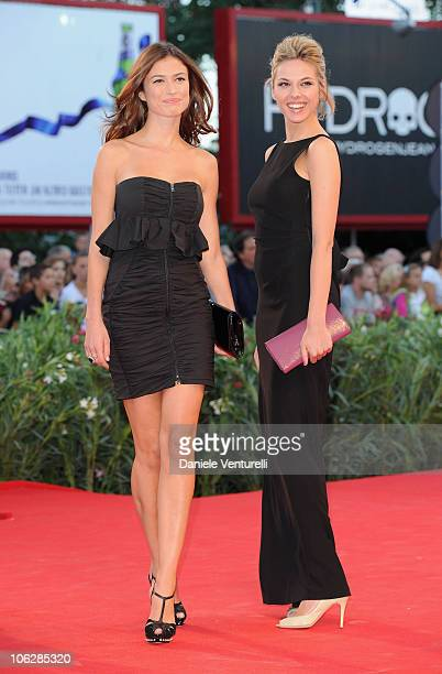 Lucia Kopacikova and Iris Cekus attend the opening ceremony and the Black Swan premiere at the Palazzo del Cinema during the 67th Venice...