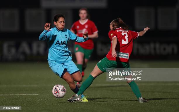 Lucia Leon of Tottenham in action during the Women's FA Cup Fifth Round match between Tottenham Hotspur Women and Coventry City Ladies on February 17...