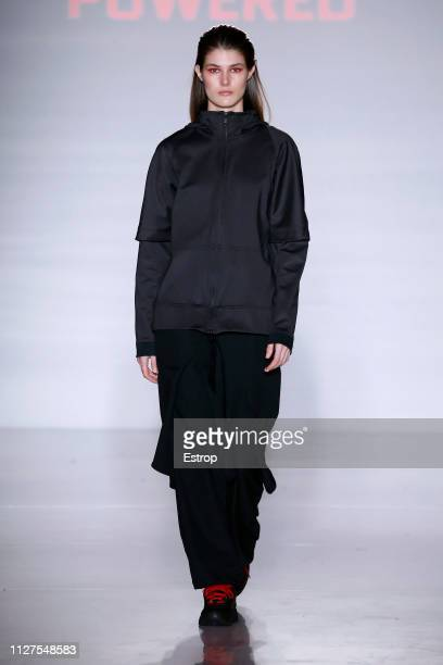 Lucia Lopez walks the runway at Z1 fashion show during Barcelona 080 Fashion Week – February 2019 on February 5th, 2019 in Barcelona, Spain.