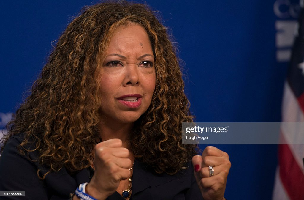 Lucia McBath, faith and community outreach leader for Everytown for Gun Safety, speaks about gun violence and the death of her son Jordan Davis, at the Center for American Progress event 'Debbie Allen On Arts and Lived Experience: Race, Violence, And Access To The American Dream' on October 24, 2016 in Washington, DC.
