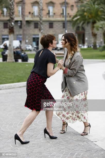Lucia Ocone and Miriam Leone attend a photocall for 'Metti La Nonna Nel Freezer' at Piazza Cavour on March 9 2018 in Rome Italy