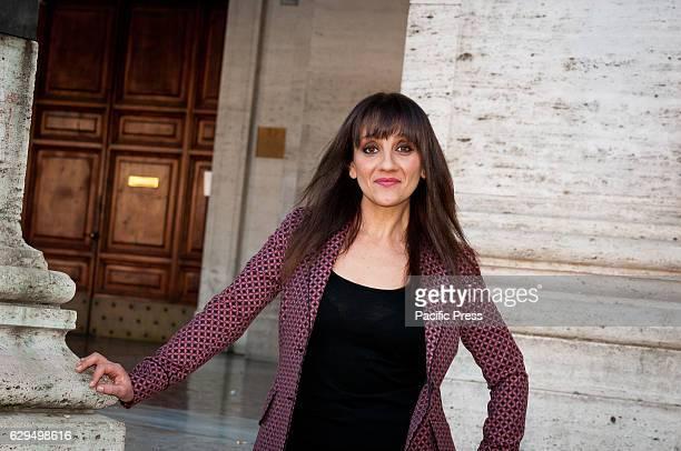 """Lucia Ocone attend a photocall for """"Poveri ma Ricchi"""" a film by Fausto Brizzi."""