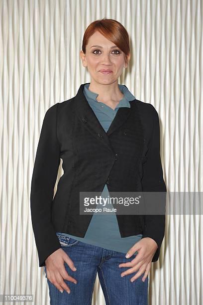 """Lucia Ocone attends """"Nessuno Mi Puo Giudicare"""" - Milan Photocall at Terrazza Martini on March 14, 2011 in Milan, Italy."""