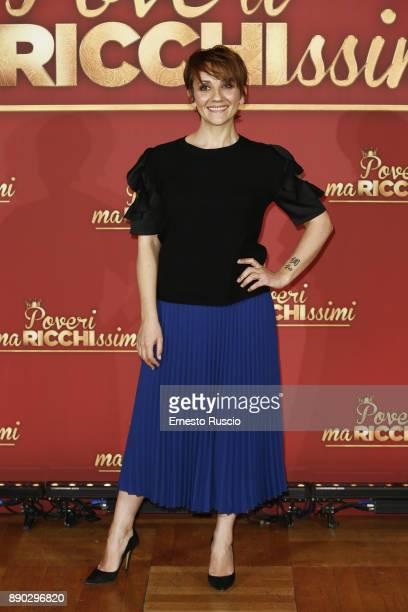 Lucia Ocone attends 'Poveri Ma Ricchissimi' photocall on December 11 2017 in Rome Italy