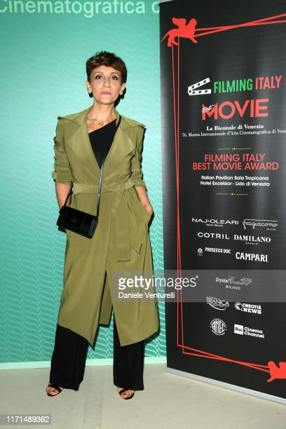Lucia Ocone attends the Filming in Italy press conference during the 76th Venice Film Festival at Excelsior Hotel on September 01 2019 in Venice Italy