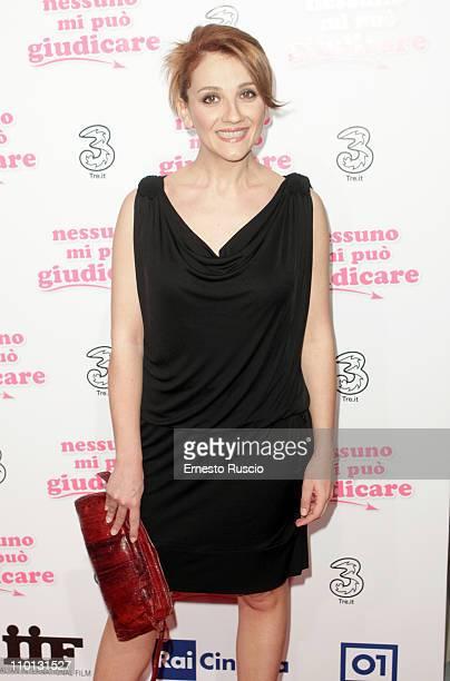 Lucia Ocone attends the Nessuno Mi Puo Giudicare premiere at Cinema Adriano on March 15 2011 in Rome Italy