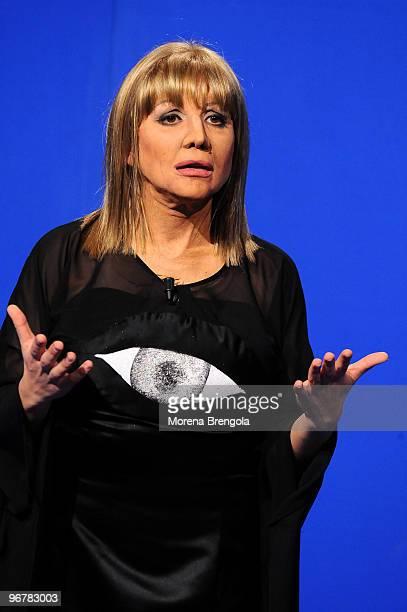 Lucia Ocone during the Italian tv show Quelli che il calcio on February 22 2009 in Milan Italy