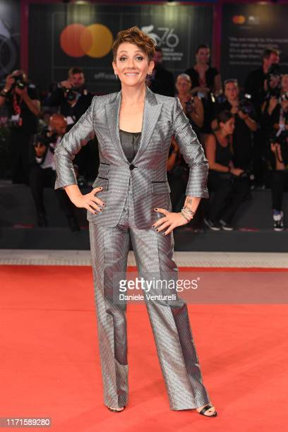 Lucia Ocone walks the Filming In Italy red carpet during the 76th Venice Film Festival at Sala Grande on September 01, 2019 in Venice, Italy.