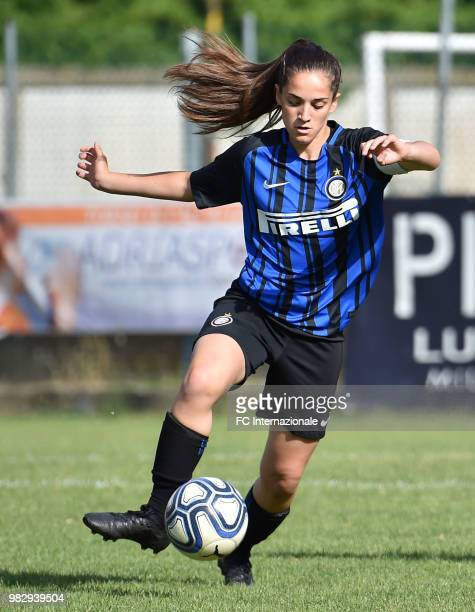 Lucia Pastrenge of FC Internazionale in action during the Women's U17 Final Tournament match between FC Internazionale and Marcon at Stadio Germano...