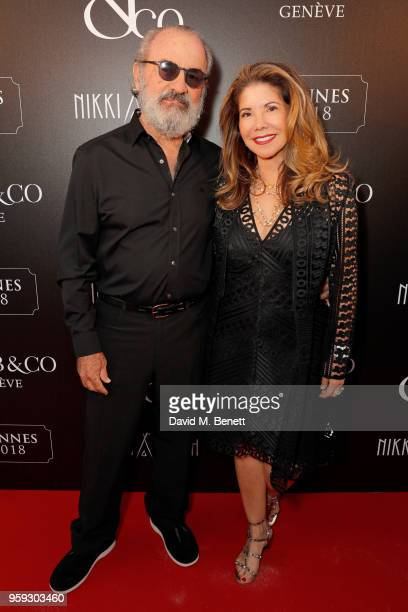 Lucia Penrod and Jack Penrod attend the Jacob Co Cannes 2018 party at Nikki Beach on May 16 2018 in Cannes France