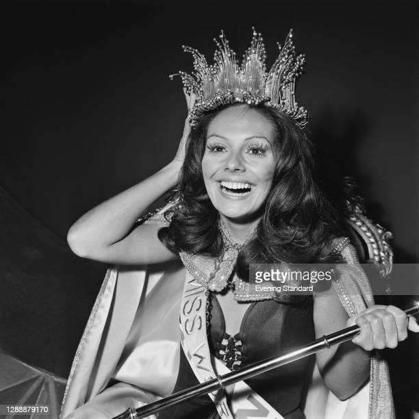 Lucia Petterle, Miss Brazil, winner of the Miss World beauty pageant in London, UK, 10th November 1971. She went on to become a doctor.
