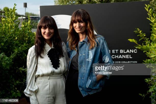 Lucia Pica and Caroline de Maigret attend the Noir et Blanc de Chanel Fall/Winter 2019 Makeup Collection Yachts De Paris on July 11 2019 in Paris...