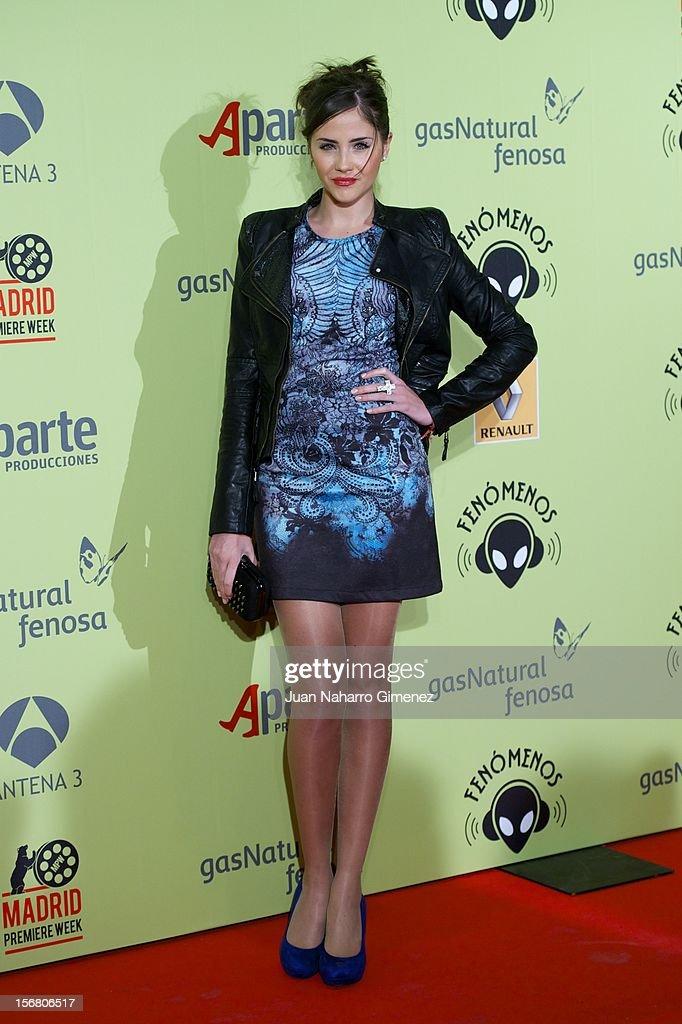 Lucia Ramos attends 'Fenomenos' Premiere at Callao Cinema on November 21, 2012 in Madrid, Spain.