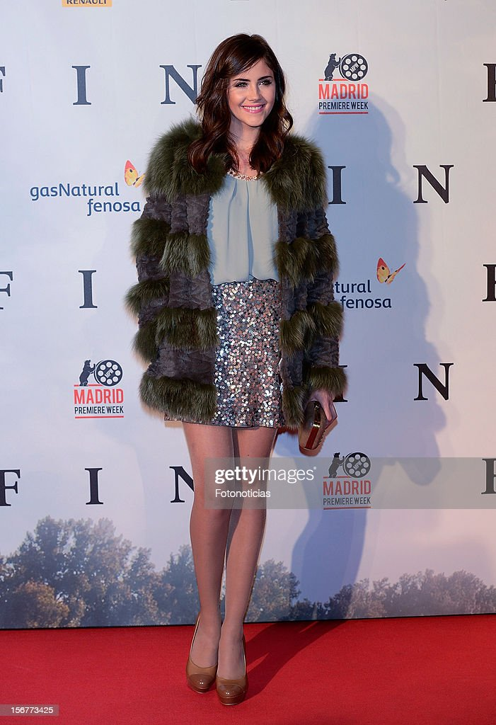 Lucia Ramos attends the premiere of 'Fin' at Callao Cinema on November 20, 2012 in Madrid, Spain.