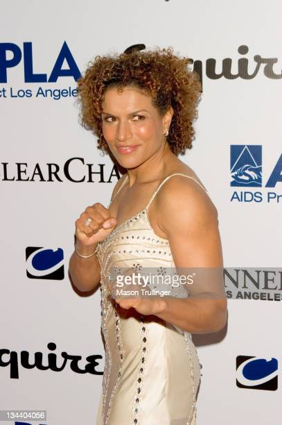 Lucia Rijker during The Abbey/Esquire Magazine's The Envelope Please Oscar Party Arrivals at The Abbey in Los Angeles CA United States